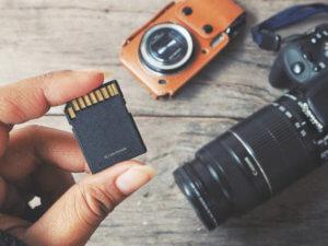 Camera card data